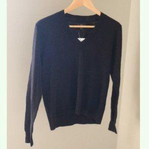 J. Crew Slub Knit V Neck Sweater M1972 Thin